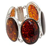 Jay King Gallery Collection Multi-Color Brown Amber Station Bracelet