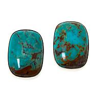 Jay King Sterling Silver Golden Dragon Mountain Turquoise Earrings