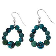 Jay King Sterling Silver Hubei Turquoise Hoop Earrings
