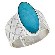 Jay King Sterling Silver Oval Andean Blue Turquoise Ring
