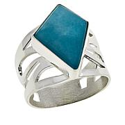 Jay King Sterling Silver Peruvian Amazonite Ring