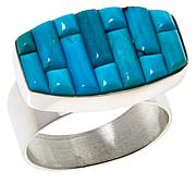 Jay King Sterling Silver Royal Blue Turquoise Inlay Ring