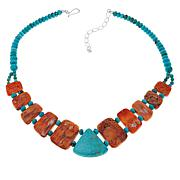 "Jay King Turquoise and Spiny Oyster Shell 18"" Necklace"