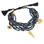 JK NY Protect Beaded Charm Adjustable Bracelet