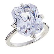 "Joan Boyce Charmayne's ""They Will Never Know"" Rectangular CZ Ring"
