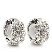Joan Boyce Pavé Crystal Hugger Hoop Earrings