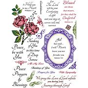 JustRite Stampers Clear Stamp Set - With Sympathy