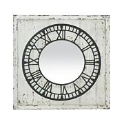 """""""Keeping Time"""" Distressed Mirror - White"""