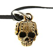 "King Baby Rivet Skull Pendant with 24"" Leather Cord"