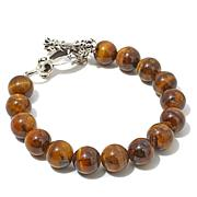 King Baby Tiger's Eye Quartz Bead Toggle Bracelet
