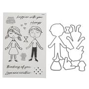 Kingston Crafts Love Collection Paper Doll Stamps and Dies