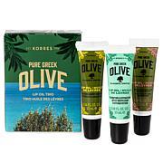 Korres Greek Olive Oil Lip Oil 3-piece Gift Set