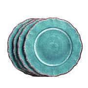 Le Cadeaux Antiqua Set of 4 Melamine Dinner Plates