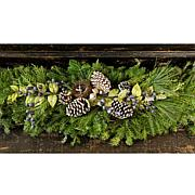 "Leaf & Petal Designs 48"" Fraser Fir Mantelpiece"