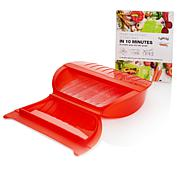 Lekue 4-Serving Silicone Steam Case with Tray and Cookbook
