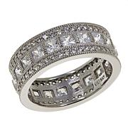 Leslie Greene Square and Round CZ Eternity Band