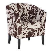 Linon Home Jackson Cow-Print Club Chair - Brown