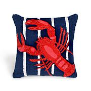 "Liora Manne Frontporch Lobster Pillow - Navy/18"" x 18"""