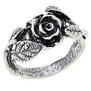 LiPaz Textured Rose Sterling Silver Ring