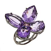 Lisa Klein 16.7ctw Amethyst and Pink Spinel Flower Ring