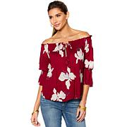 Lucky Brand Floral-Print Off-the-Shoulder Top