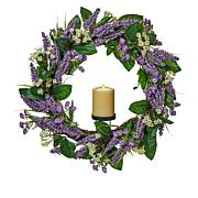 Luminara Spring Wreath with Moving Flame Candle