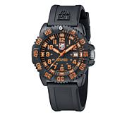 "Luminox ""Navy SEAL Colormark"" Black/Orange Strap Watch"