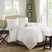 Madison Park Delancey Duvet Set King White