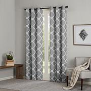 Madison Park Grey Printed Window Panel Pair