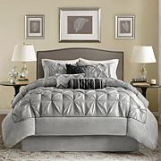 Madison Park Gray Laurel Comforter Set - Queen