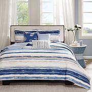 Madison Park Marina Blue 6pc Quilted Coverlet Set K/CK