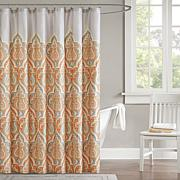 "Madison Park Nisha Shower Curtain - Orange/72"" x 72"""