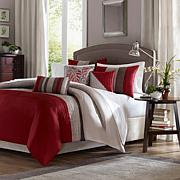 Madison Park Tradewinds Duvet Set Full/Queen Red