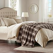 "Madison Park Zuri Faux Fur Oversized Bed Throw 96""x80"""