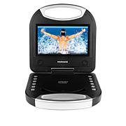 """Magnavox 7"""" Portable DVD Player with Remote Control and Car Charger"""