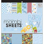 """Mambi Specialty Cardstock 48 Sheets of """"Oh Baby Boy"""""""