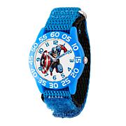 Marvel Captain America Kid's Blue Time Teacher Watch w/ Nylon Strap