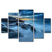 Mathieu Rivrin 'Blue Hour for a Blue Ocean' Art