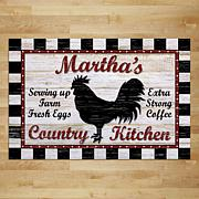 MBM Country Kitchen Personalized Doormat with Name