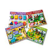 Melissa & Doug Chunky Puzzles Bundle - Farm, Pets, Safari and Shapes