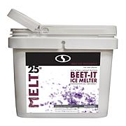 MELT 25-pound Bucket Beet-It Ice Melter with CMA and Beet Extract
