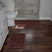 Memory Foam 2-piece Bath Mat Set - Chocolate