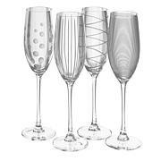 Mikasa Cheers Flute Glass Set of 4