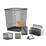 Mind Reader Metal Mesh 6-piece Desk Organizer Set