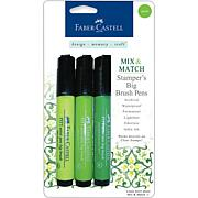 Mix and Match Stamper's Big Brush Pens - 3pk Green