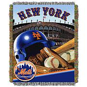 MLB Home Field Advantage Tapestry Throw - Mets