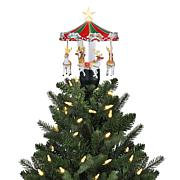 Mr. Christmas Animated Carousel Holiday Tree Topper