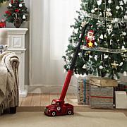 Mr. Christmas Animated Cherry-Picker Telescoping Santa w/6-Hour Timer