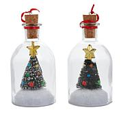 Mr. Christmas Message in a Bottle Set of 2