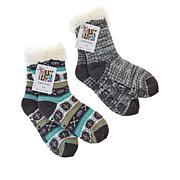 MUK LUKS 2-pack Patterned Cabin Socks